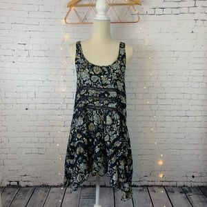 Free People Floral Slip Dress with Lace detail
